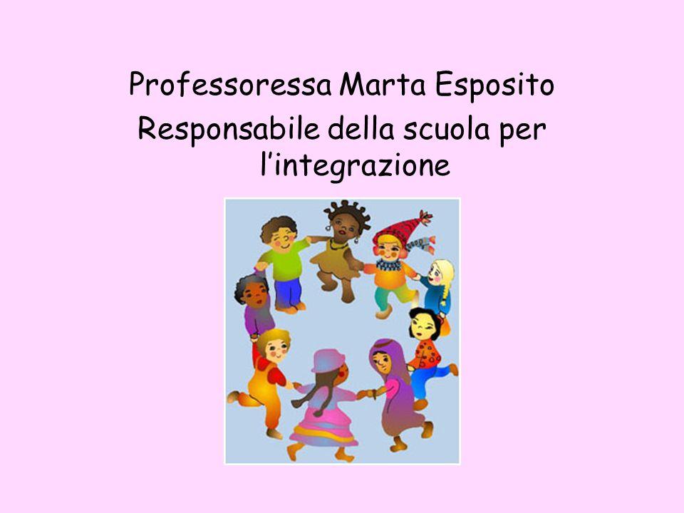 Professoressa Marta Esposito Responsabile della scuola per l'integrazione