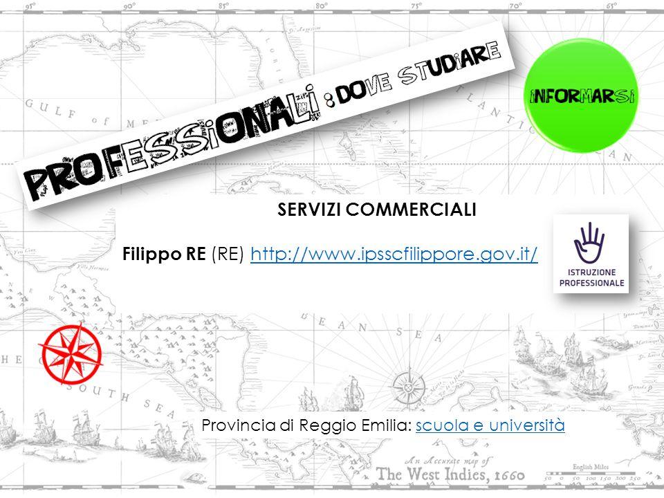 SERVIZI COMMERCIALI Filippo RE (RE) http://www.ipsscfilippore.gov.it/http://www.ipsscfilippore.gov.it/ Provincia di Reggio Emilia: scuola e universitàscuola e università