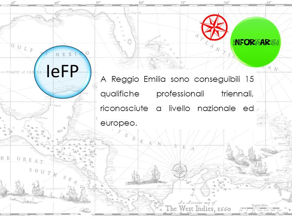 A Reggio Emilia sono conseguibili 15 qualifiche professionali triennali, riconosciute a livello nazionale ed europeo.