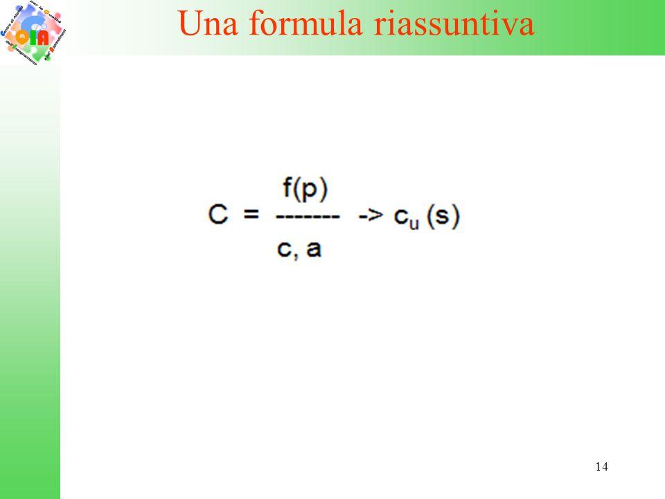 14 Una formula riassuntiva