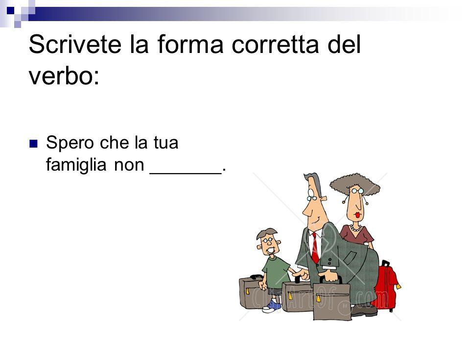Scrivete la forma corretta del verbo: Spero che questo ragazzo _________ l'auto bene.