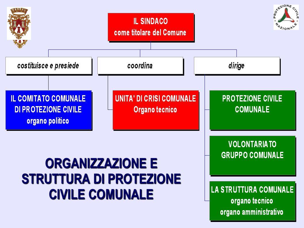 ORGANIZZAZIONE E STRUTTURA DI PROTEZIONE CIVILE COMUNALE