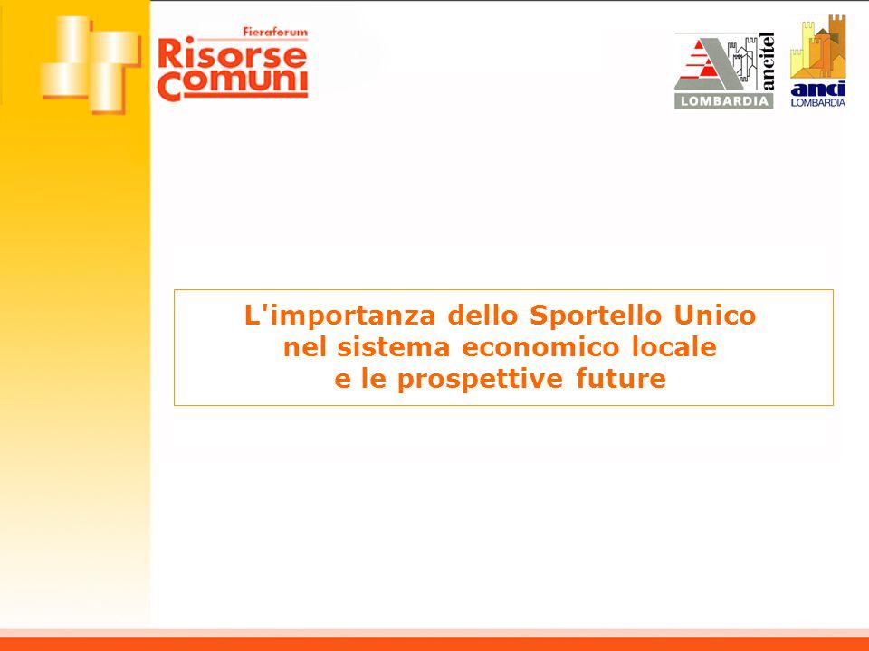 L'importanza dello Sportello Unico nel sistema economico locale e le prospettive future