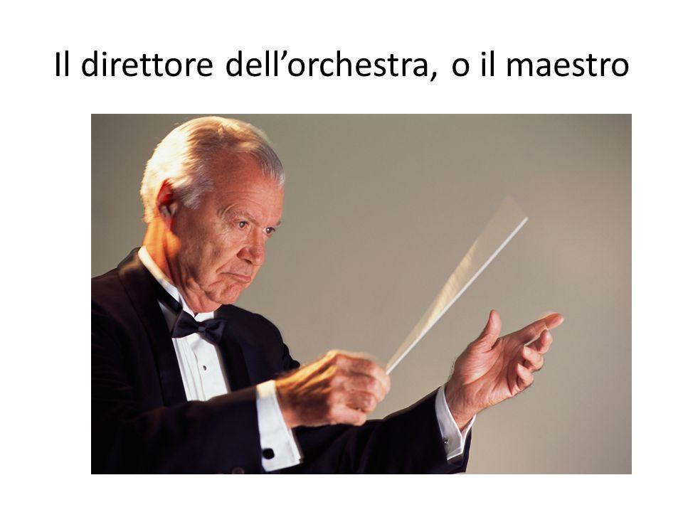 Il direttore dell'orchestra, o il maestro