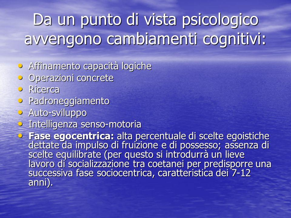 Caratteristiche psico-fisiche del bambino: Il primo periodo scolare coincide a livello fisico con un primo ed evidente cambiamento della figura caratt