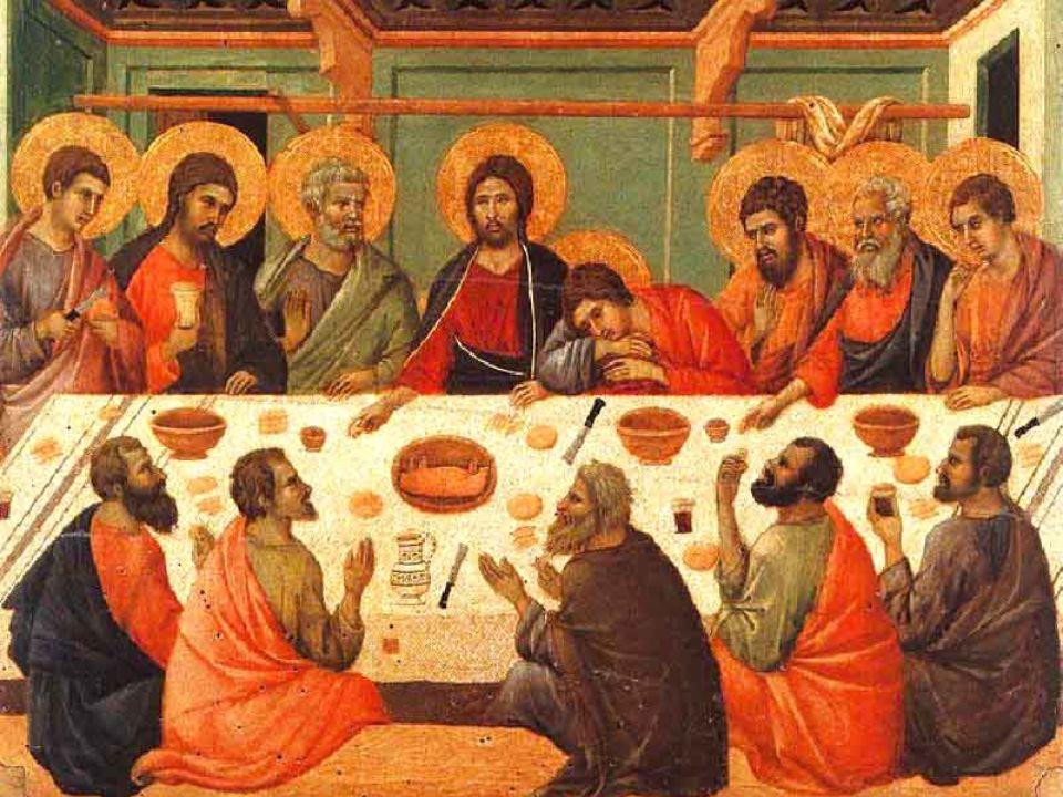 Qual è allora il nucleo di questa Cena? Sono i gesti dello spezzare il pane, del distribuirlo ai suoi e del condividere il calice del vino con le paro