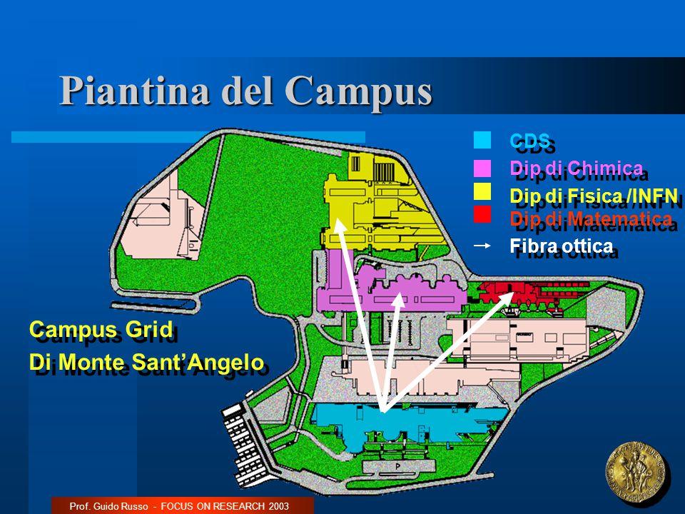 Piantina del Campus Prof.