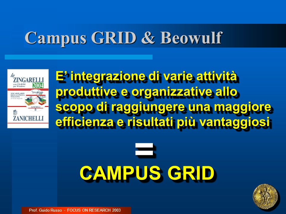 Campus GRID & Beowulf Prof.