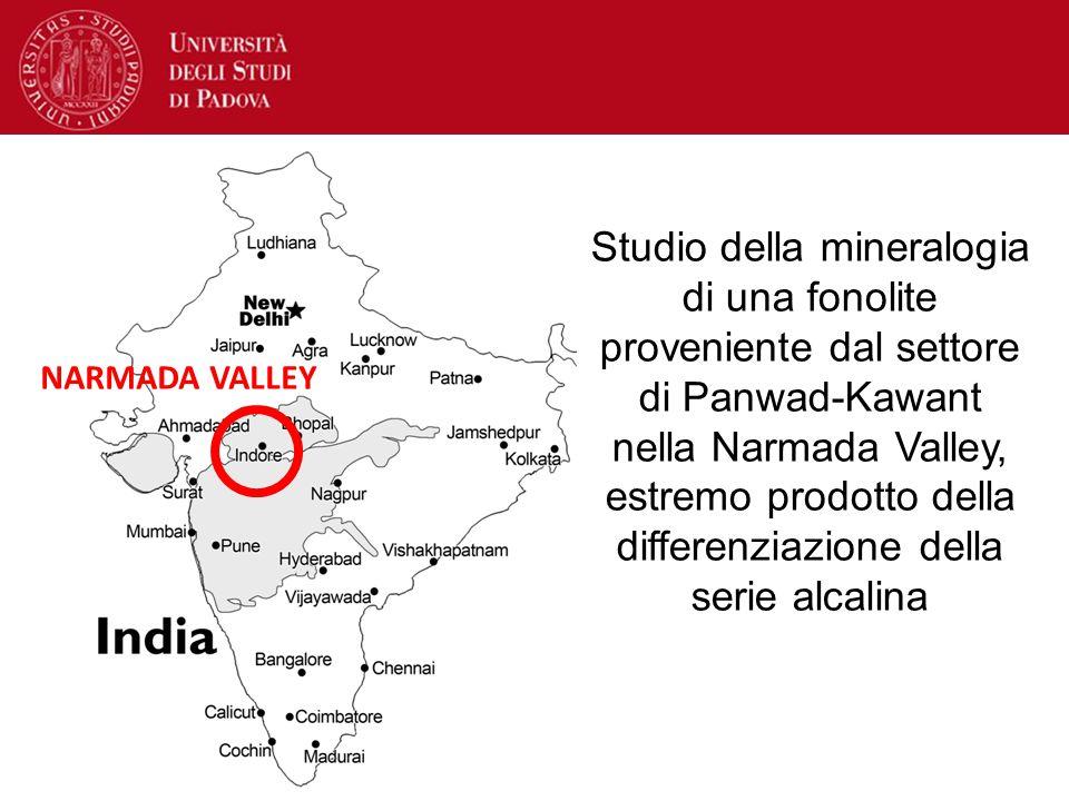 Studio della mineralogia di una fonolite proveniente dal settore di Panwad-Kawant nella Narmada Valley, estremo prodotto della differenziazione della