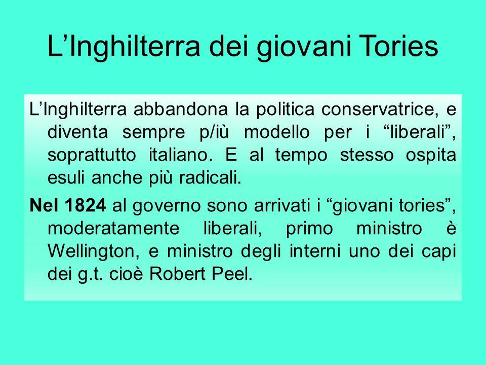 """L'Inghilterra dei giovani Tories L'Inghilterra abbandona la politica conservatrice, e diventa sempre p/iù modello per i """"liberali"""", soprattutto italia"""