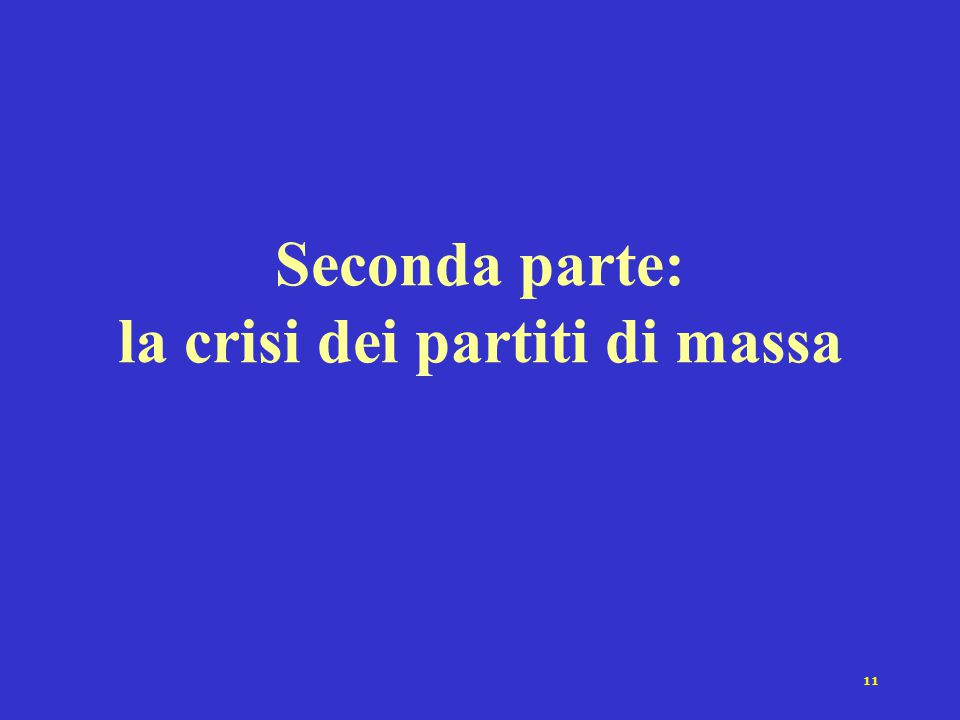 11 Seconda parte: la crisi dei partiti di massa