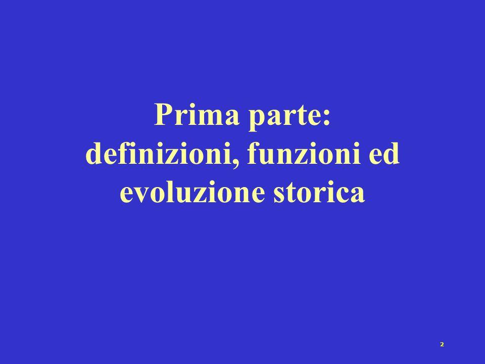 2 Prima parte: definizioni, funzioni ed evoluzione storica