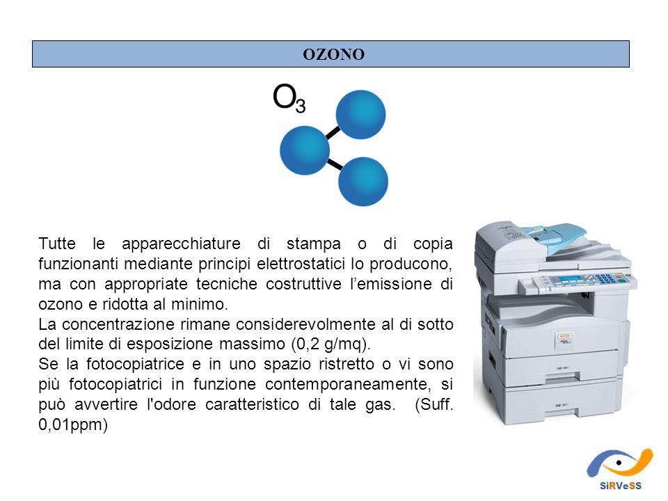 Tutte le apparecchiature di stampa o di copia funzionanti mediante principi elettrostatici lo producono, ma con appropriate tecniche costruttive l'emissione di ozono e ridotta al minimo.