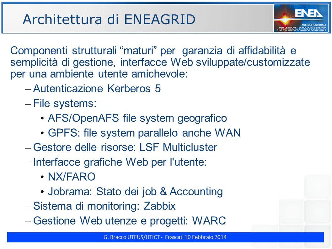 G. Bracco UTFUS/UTICT - Frascati 10 Febbraio 2014 ENE CRESCO4 collaudato ottobre 2013