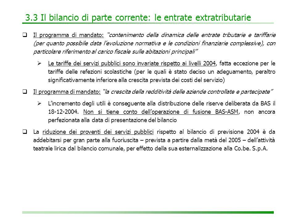 6.4 Tabella F: il bilancio triennale 2005-2007