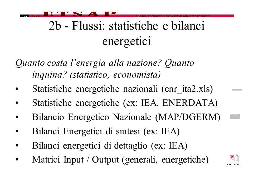 2b - Flussi: statistiche e bilanci energetici Quanto costa l'energia alla nazione.