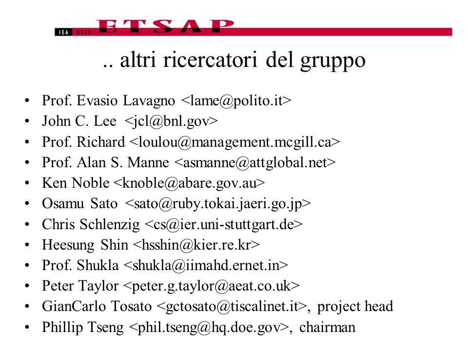 .. altri ricercatori del gruppo Prof. Evasio Lavagno John C.