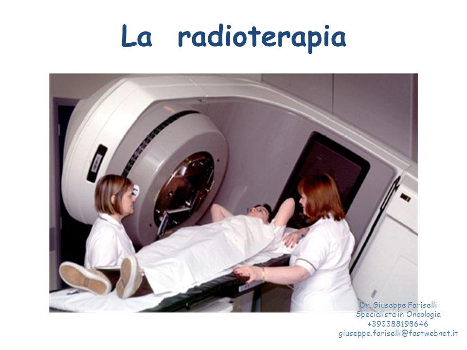 La radioterapia Dr. Giuseppe Fariselli Specialista in Oncologia +393388198646 giuseppe.fariselli@fastwebnet.it