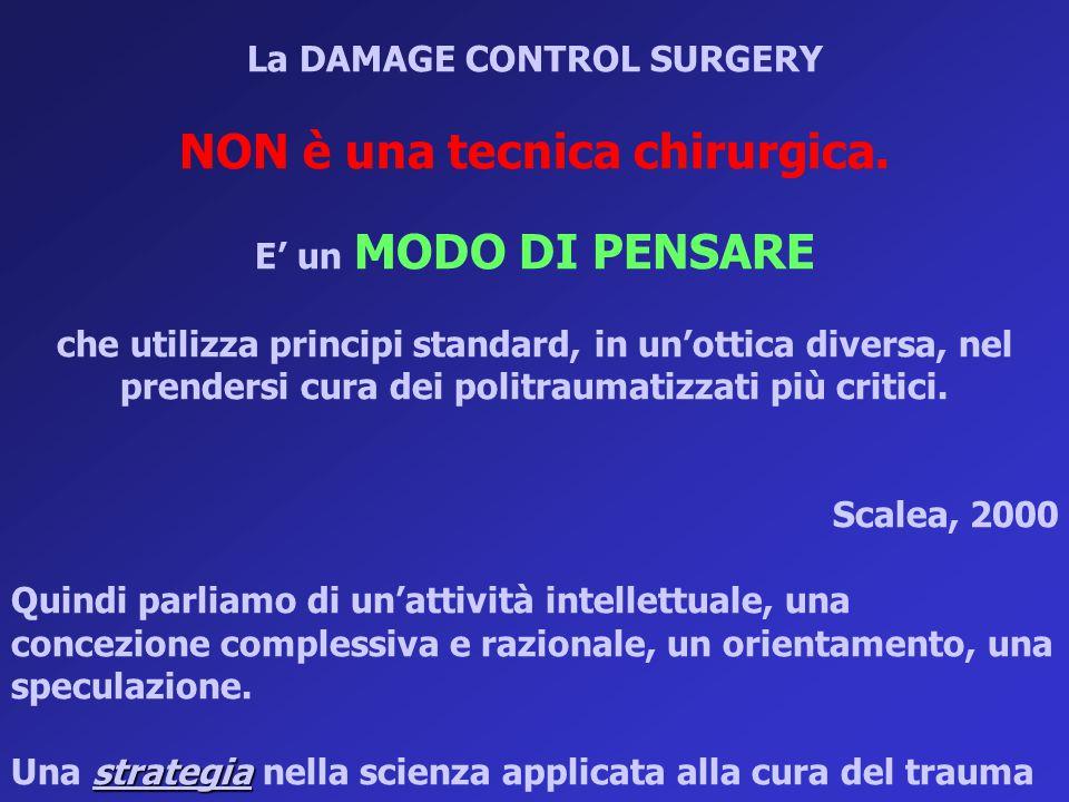 La DAMAGE CONTROL SURGERY NON è una tecnica chirurgica. E' un MODO DI PENSARE che utilizza principi standard, in un'ottica diversa, nel prendersi cura
