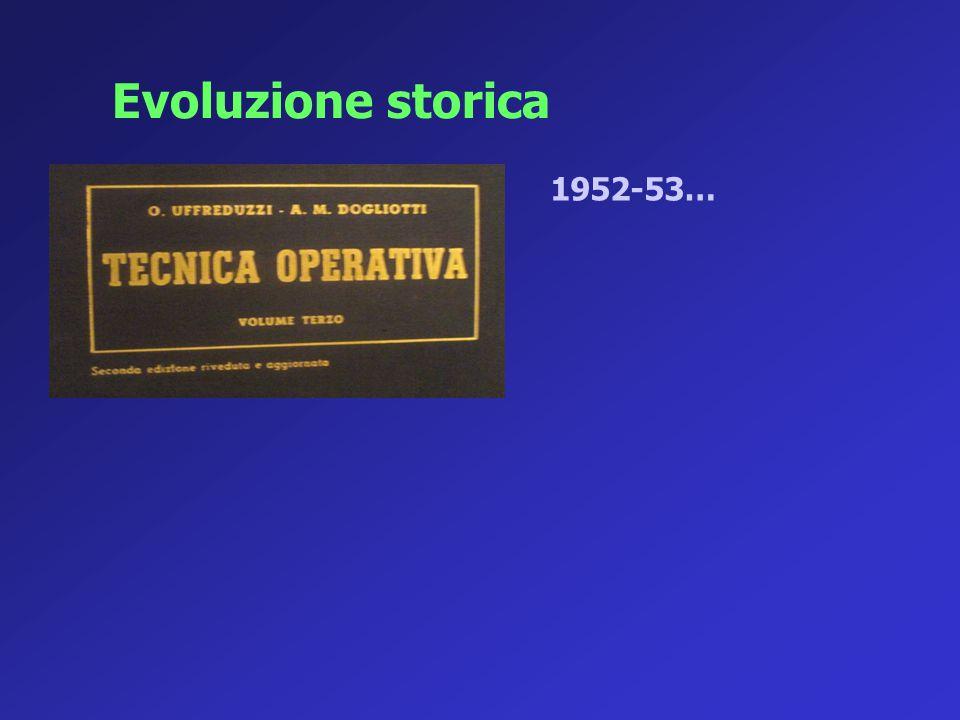 1952-53… Evoluzione storica
