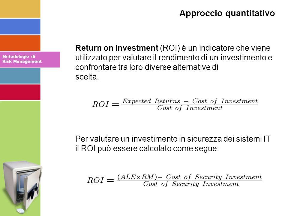 Return on Investment (ROI) è un indicatore che viene utilizzato per valutare il rendimento di un investimento e confrontare tra loro diverse alternative di scelta.