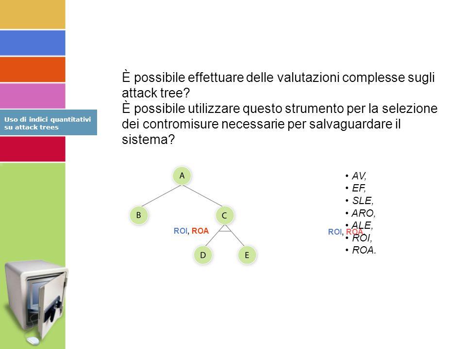 È possibile effettuare delle valutazioni complesse sugli attack tree.