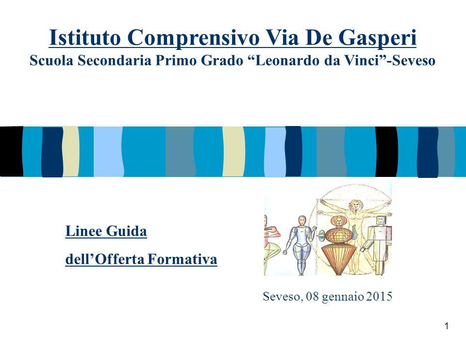 """Seveso, 08 gennaio 2015 Istituto Comprensivo Via De Gasperi Scuola Secondaria Primo Grado """"Leonardo da Vinci""""-Seveso Linee Guida dell'Offerta Formativ"""
