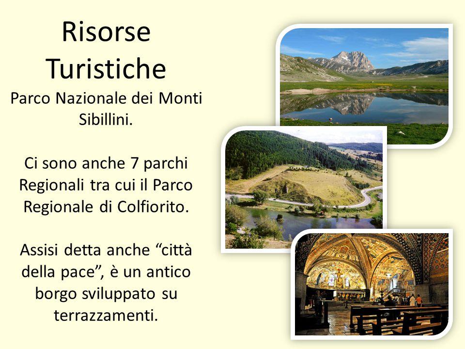 Risorse Turistiche Parco Nazionale dei Monti Sibillini. Ci sono anche 7 parchi Regionali tra cui il Parco Regionale di Colfiorito. Assisi detta anche