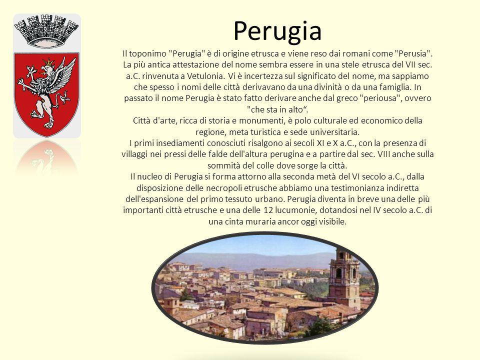Perugia Il toponimo