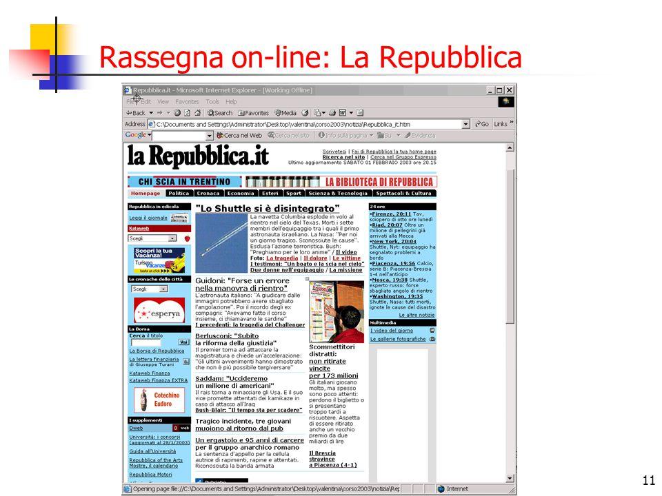 11 Rassegna on-line: La Repubblica