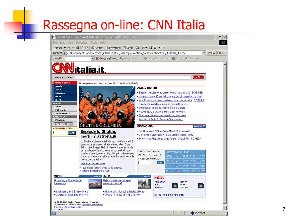7 Rassegna on-line: CNN Italia