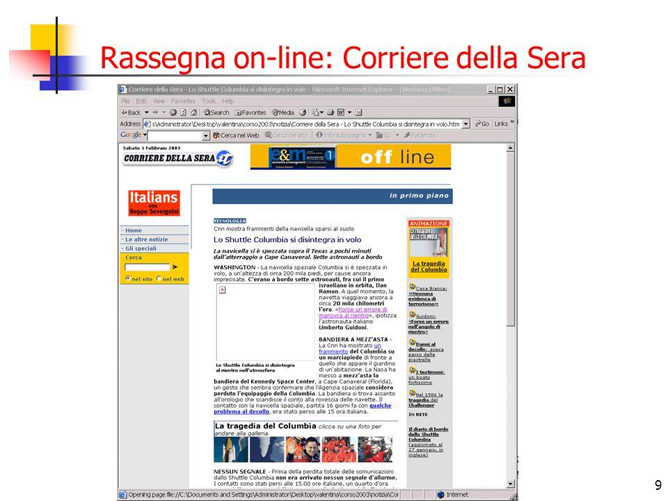 10 Rassegna on-line: Il Messaggero