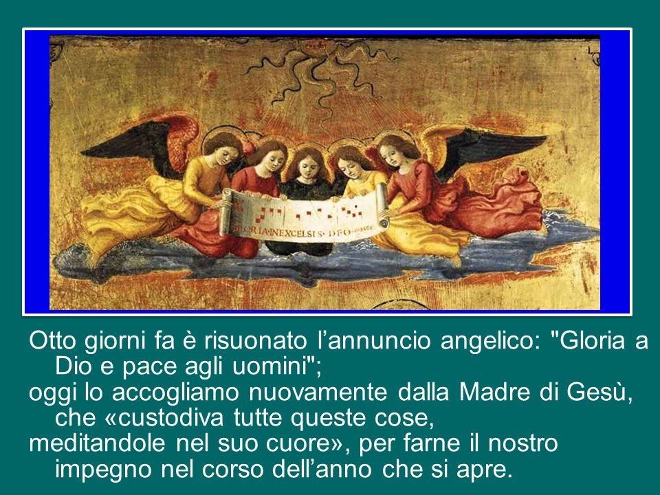 Dove è un uomo o una donna costruttore di pace, è proprio lo Spirito Santo che li aiuta, li spinge a fare la pace.