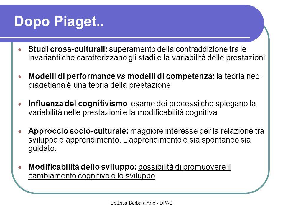 Dopo Piaget..
