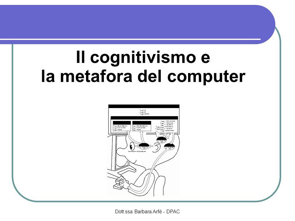 Il cognitivismo e la metafora del computer Dott.ssa Barbara Arfé - DPAC