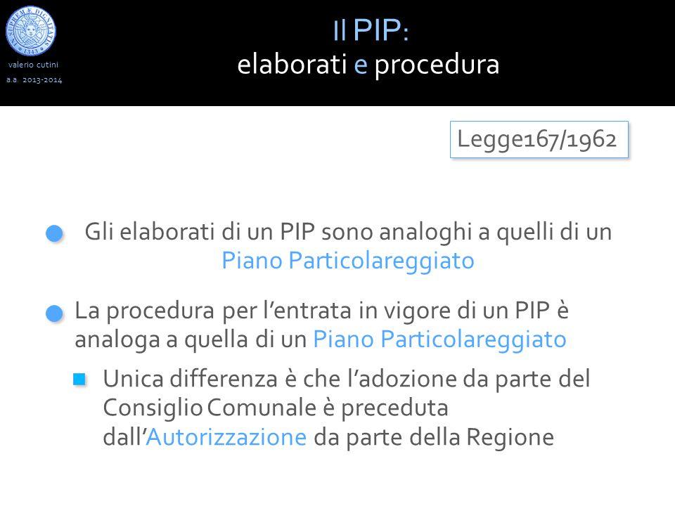 valerio cutini Il PIP : elaborati e procedura a.a.