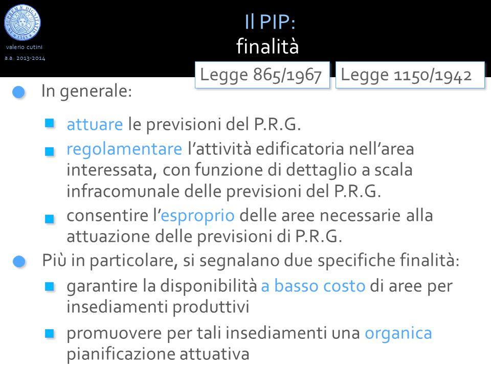 valerio cutini Il PIP : limiti spaziali, cogenza e durata temporale a.a.