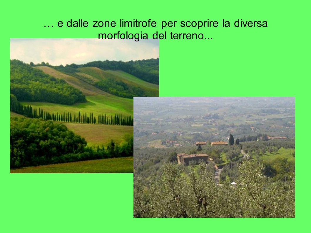 … e dalle zone limitrofe per scoprire la diversa morfologia del terreno...