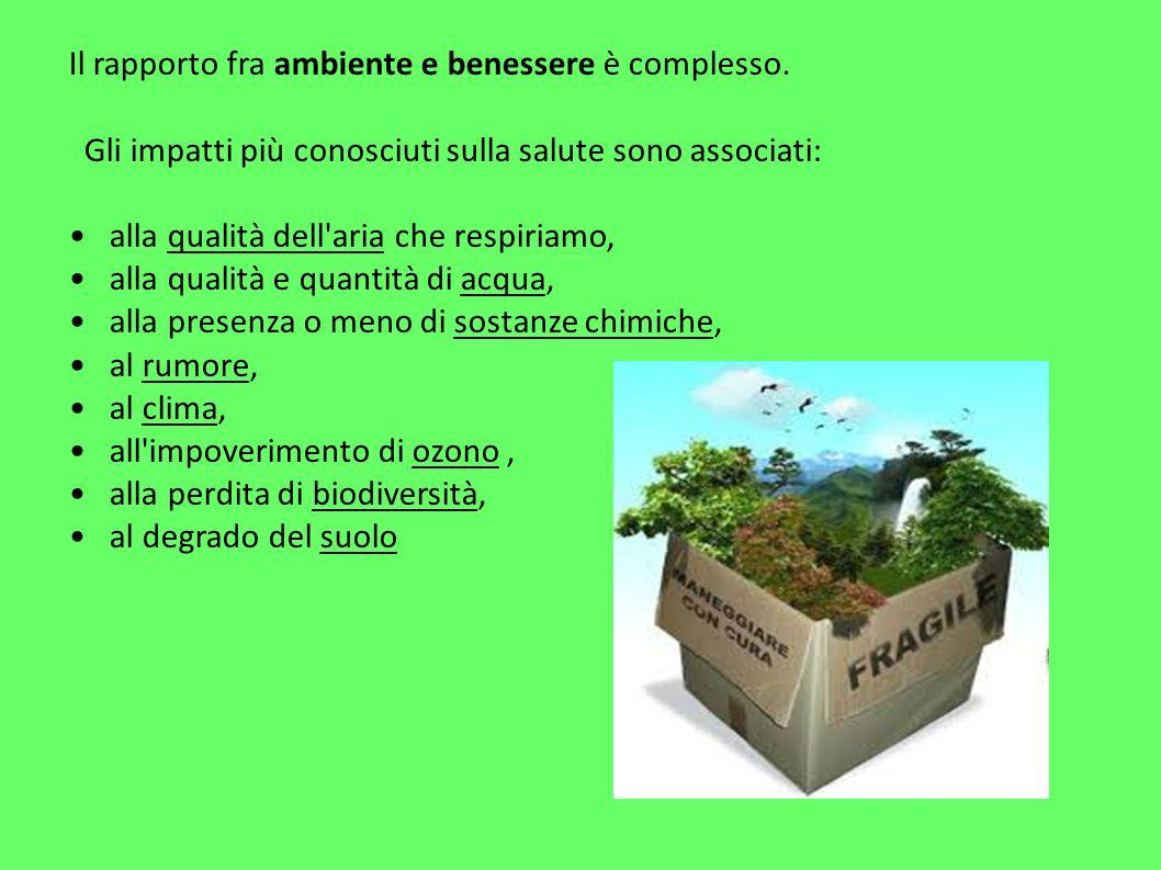 Il rapporto fra ambiente e benessere è complesso.