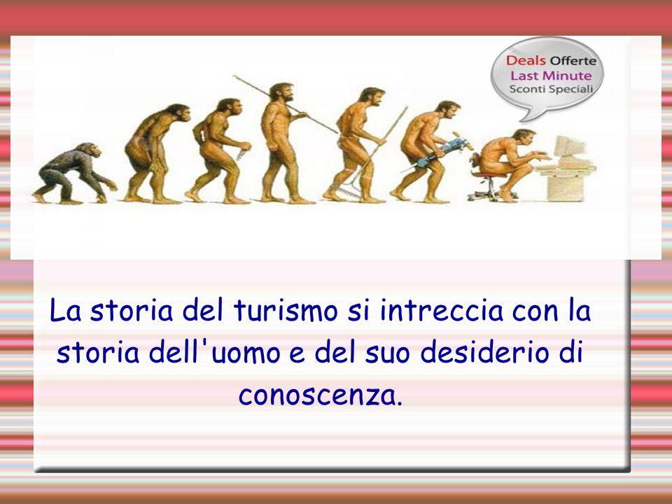 La storia del turismo si intreccia con la storia dell'uomo e del suo desiderio di conoscenza.