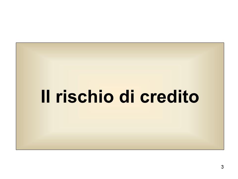 3 Il rischio di credito