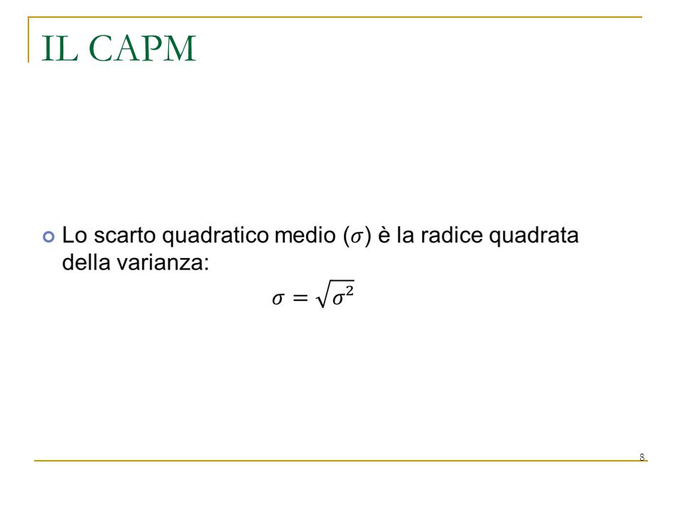 IL CAPM 8