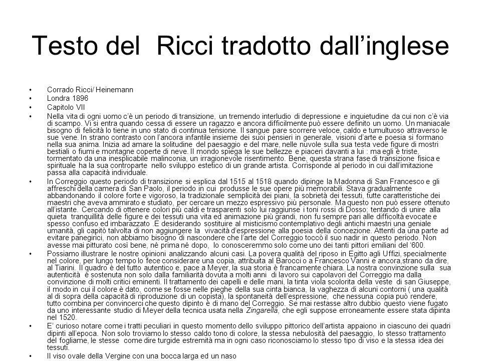 Testo del Ricci tradotto dall'inglese Corrado Ricci/ Heinemann Londra 1896 Capitolo VII Nella vita di ogni uomo c'è un periodo di transizione, un tremendo interludio di depressione e inquietudine da cui non c'è via di scampo.