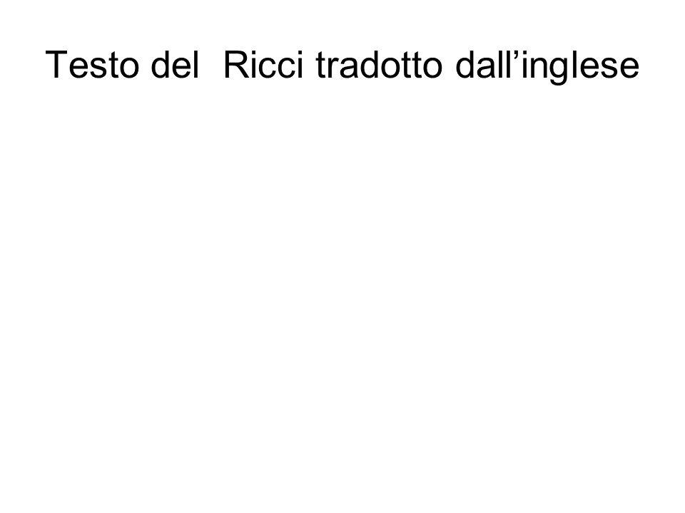 Testo del Ricci tradotto dall'inglese Corrado Ricci/ Heinemann Londra 1896 Capitolo VII Nella vita di ogni uomo c'è un periodo di transizione, un trem