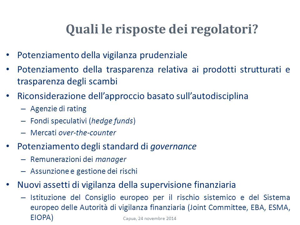 Quali le risposte dei regolatori.