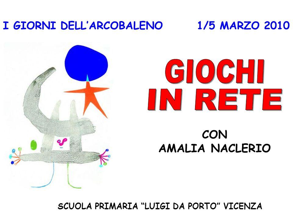 """I GIORNI DELL'ARCOBALENO 1/5 MARZO 2010 SCUOLA PRIMARIA """"LUIGI DA PORTO"""" VICENZA CON AMALIA NACLERIO"""