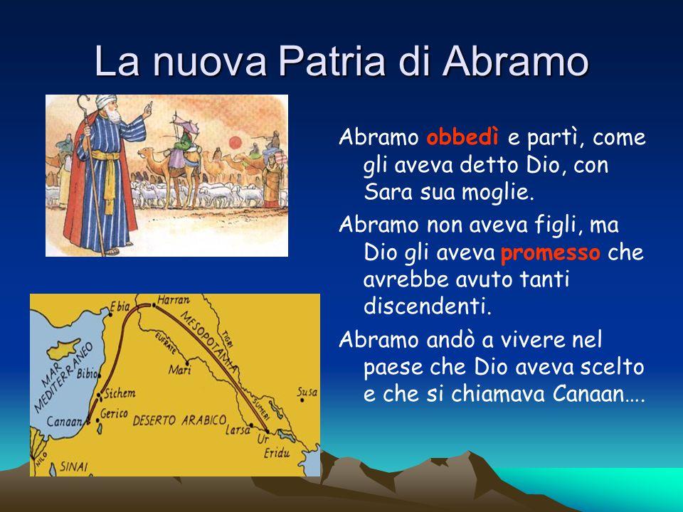 Abramo, Isacco, Giacobbe sono i PATRIARCHI cioè gli antichi padri del popolo eletto