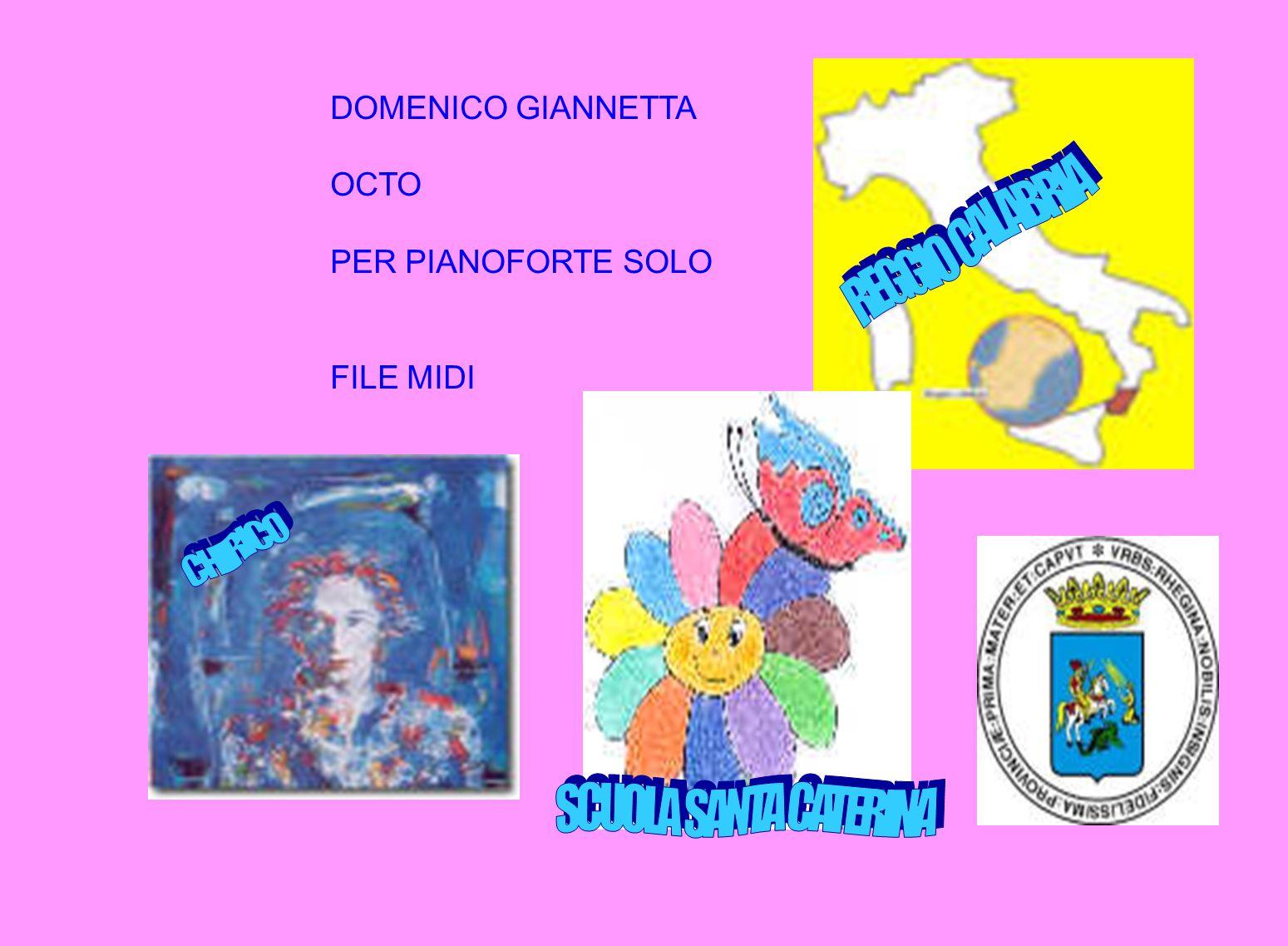 DOMENICO GIANNETTA OCTO PER PIANOFORTE SOLO FILE MIDI