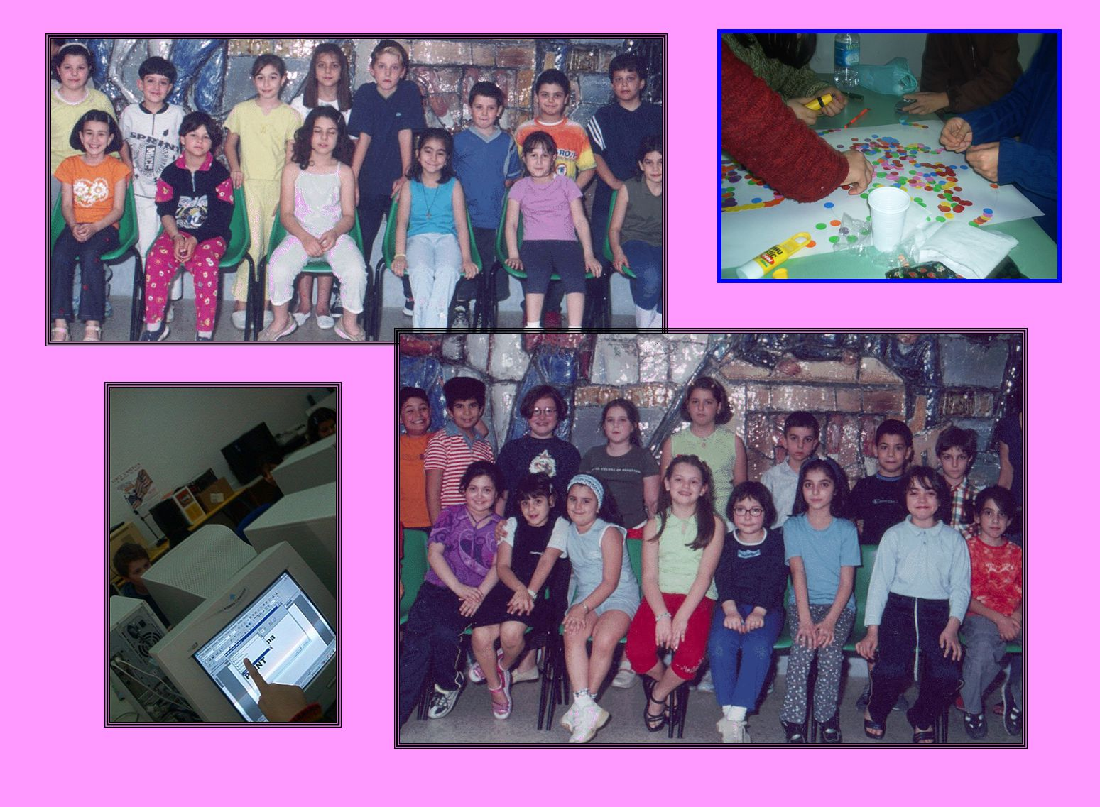 La scuola elementare di Santa Caterina possiede un 'aula multimediale.