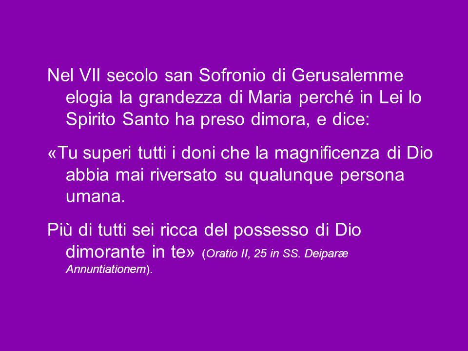 L'espressione «piena di grazia» indica l'opera meravigliosa dell'amore di Dio, che ha voluto ridarci la vita e la libertà, perdute col peccato, mediante il suo Figlio Unigenito incarnato, morto e risorto.